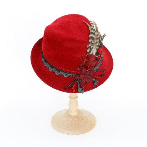 Bedacht Trachtenhut Feder Rot