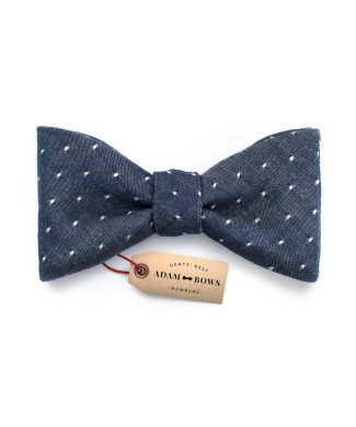 Adam Bows Dots - Blau