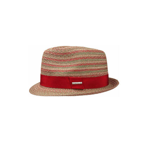 Stetson Tricolour Toyo Trilby Rot