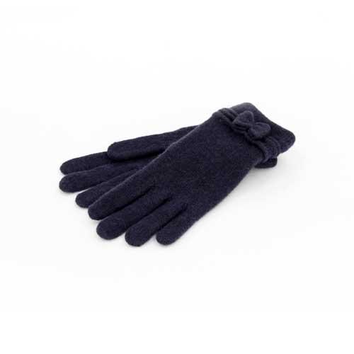 Wollhandschuhe Schleife - Blau