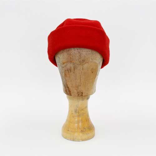 Kappe mit Umschlag - Rot
