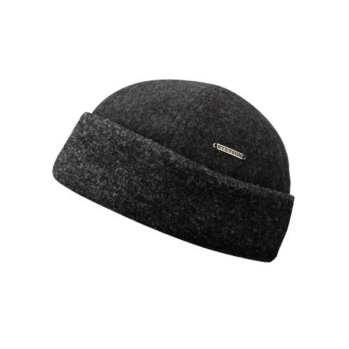 Stetson Docker Sparr Wool - Anthrazit