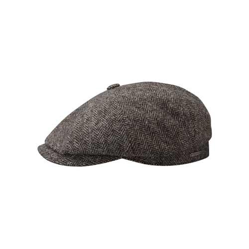Stetson Hatteras Woolrich Herringbone - Grau