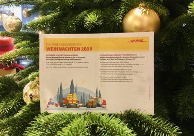 BLOG | DHL Paket Abgabetermine Weihnachten 2019
